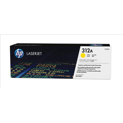HP 312A Laser Toner Cartridge Page Life 2700pp Yellow Ref CF382A