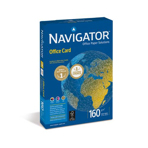 Navigator Office Prem Card FSC High Qlty 160gsm A4 Bright WhtRefNOC1600001[250Shts]