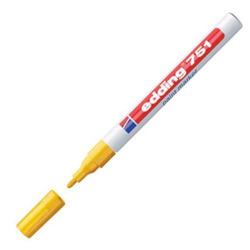 Edding 751 Paint Marker Fine Bullet Tip 1-2mm Line Yellow Ref 4-751005 [Pack 10]
