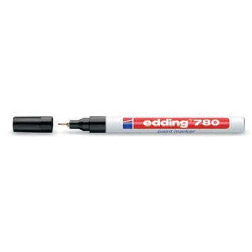 Edding 780 Paint Marker Extra Fine Bullet Tip 0.8mm Line White Ref 4-780049 [Pack 10]
