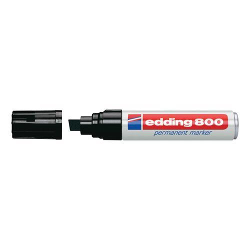 Edding 800 Permanent Marker Chisel Tip 4-12mm Line Black Ref 4-800001 [Pack 5]