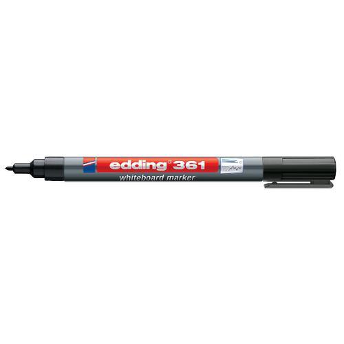 Edding 361 Whiteboard Marker Bullet Tip 1mm Line Black Ref 4-361001 [Pack 10]