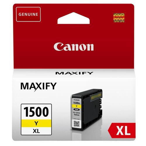 Canon PGI-1500XLC Inkjet Cartridge High Yield 12ml Page Life 935pp Yellow Ref 9195B001AA
