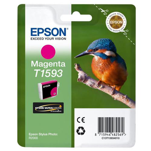 Epson T1593 Kingfisher Inkjet Cartridge 17ml Vivid Magenta Ref C13T15934010
