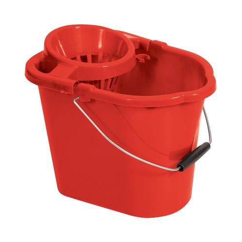 Oval Mop Bucket 12 Litre Red