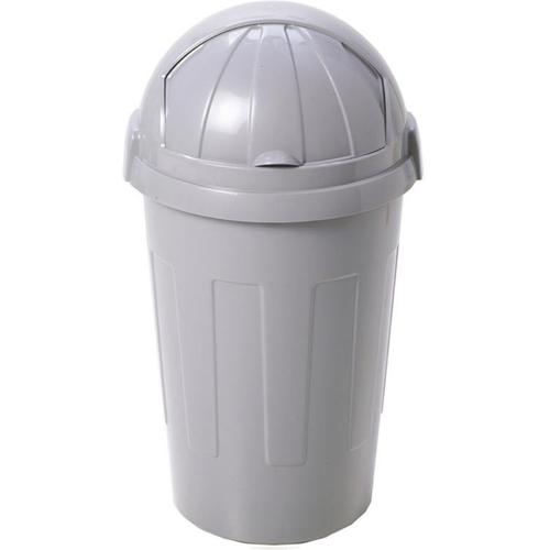 Large Bullet Bin 50 Litre Roll Top Silver