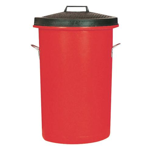 Dustbin Heavy Duty 85 Litres Red