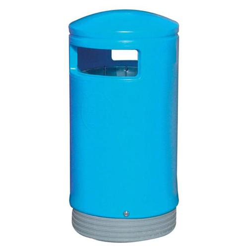 Outdoor Hooded Top Bin 110 Litres Easy Clean Blue