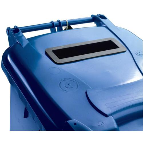 Wheeled Bin UV Stabilised Polyethylene with Rear Wheels Lid Lock 140 Litre Capacity 480x555x1070mm Blue