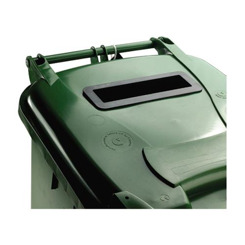 Wheeled Bin UV Stabilised Polyethylene with Rear Wheels Lid Lock 140 Litre Capacity 480x555x1070mm Green