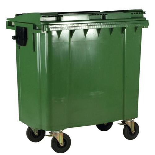 Four Wheeled Bin UV Stabilised Polyethylene 770 Litres 55kg 1350x770x1360mm Green