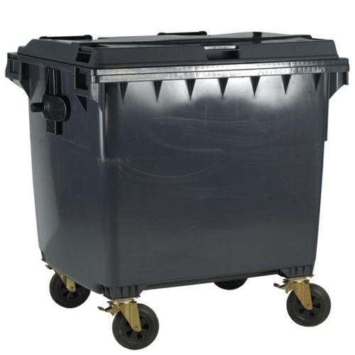 Four Wheeled Bin UV Stabilised Polyethylene 1100 Litres 67kg 1400x1200x1450mm Grey