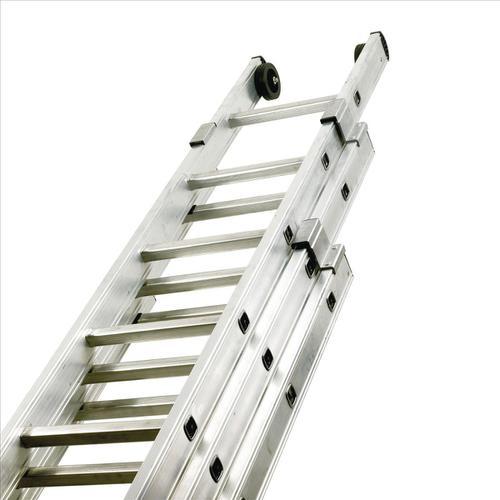 Aluminium Push Up Ladder 3 Section x 8 Rungs Capacity 150kg