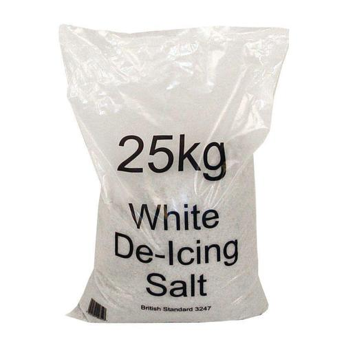 Salt Bag De-icing 25kg White [Packed 20]