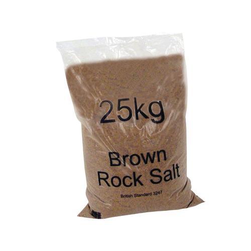 Rock Salt De-icing 25kg Brown [Packed 10]