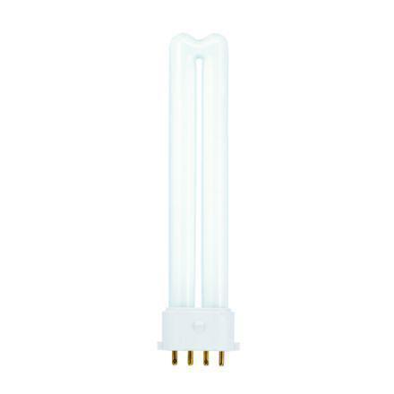 Tungsram 9W 4pin Biax Plug-in 2G7 Fluores Bulb Dim 600lm 60V EEC-A ExWrmWhite Ref37710*Upto10DayLeadtime*