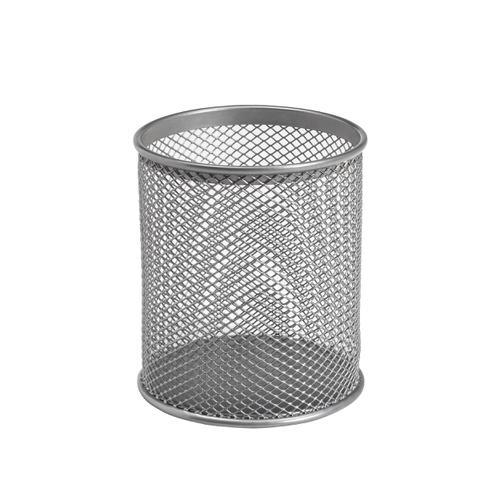 5 Star Office Pen Pot Wire Mesh DiaxH: 80x95mm Silver