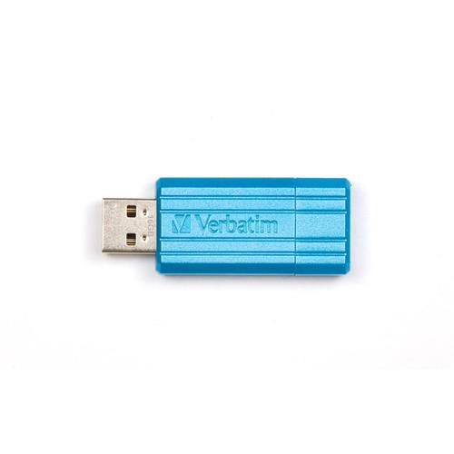 Verbatim Pinstripe USB Drive 2.0 Retractable 16GB Blue Ref 49068