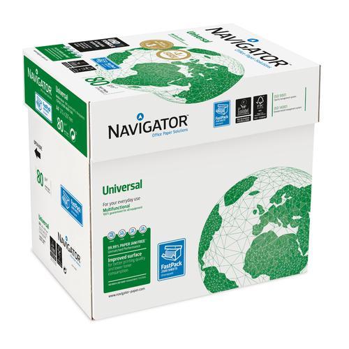 Navigator Universal Paper Multifunctional 80gsm A4 Fast PackWht Ref127565[2500Shts][REDEMPTION]Apr-June20