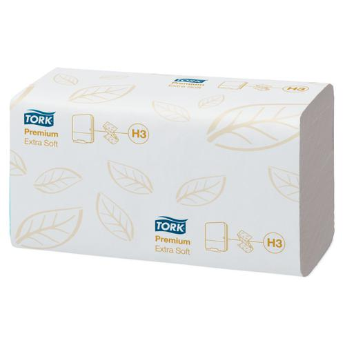 Tork Premium Hand Towel Leaf Embossed C-Fold 2-Ply 200 Towels per Sleeve White Ref 100278 [Pack 15]