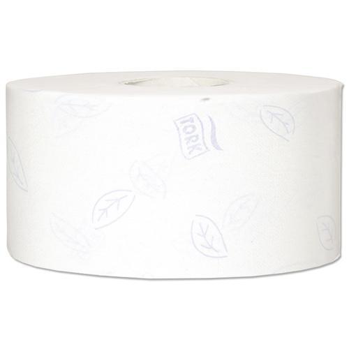 Tork Premium Mini Jumbo Toilet Roll 2-ply Embossed 94x200mm 850 Sheets White Ref 110254 [Pack 12]