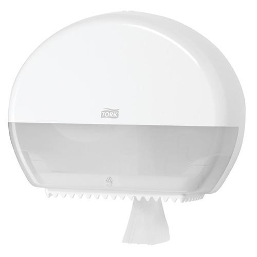 Tork Mini Jumbo Roll Dispenser W345xD132xH275mm White Ref 555000