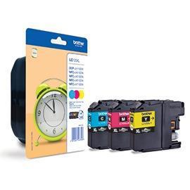 Brother Inkjet Cartridge HY Page Life 1200pp C/M/Y Ref LC125XLRBWBP [Pack 3]