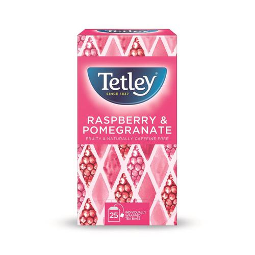 Tetley Individually Enveloped Tea Bags Raspberry & Pomegranate Infusion Ref 1580a [Pack 25]