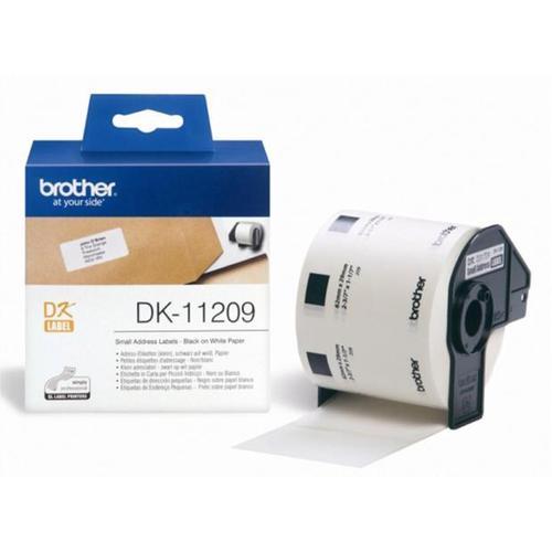 Brother PTouch DK-11209 29mmx62mm BlkOnWht SmallAddressLab 800 Labels Ref DK11209