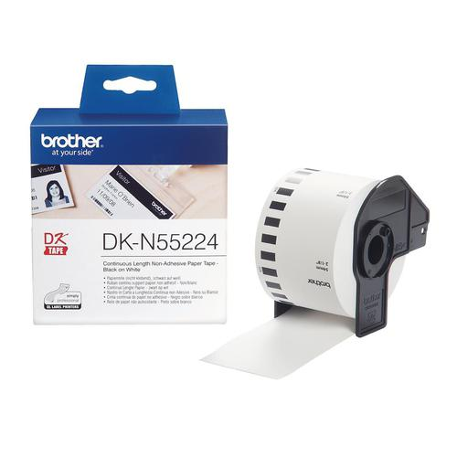 Brother DK-N55224 54mmx30.5m Continuous Non-Adhe Paper Lab Tape Ref DKN55224
