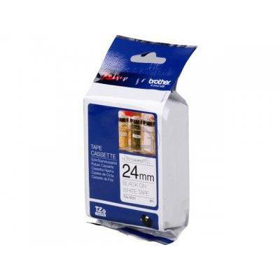 Brother P-Touch TZe-N251 24mmx8m BlackOnMatt White Non-Lam Lab Tape Ref TZEN251 *3to5 Day Leadtime*