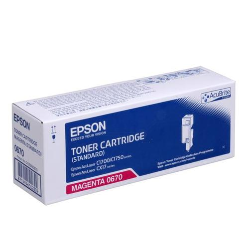 Epson S050670 Laser Toner Cartridge Page Life 700pp Magenta Ref C13S050670 *3to5 Day Leadtime*