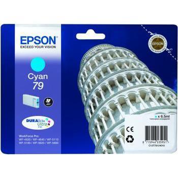 Epson T7912 Inkjet Cartridge Pisa 800pp 6.5 ml Cyan Ref C13T79124010 *3to5 Day Leadtime*