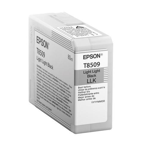 Epson T8509 Inkjet Cartridge 80ml Light Light Black Ref C13T850900 *3to5 Day Leadtime*