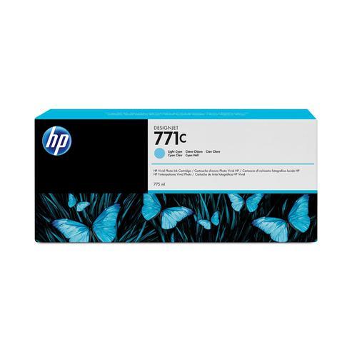 HP 771C 775ml LightCyan Cart for Designjet Z6200 1067mm/Z6200 1524mm Ref B6Y12A *3 to 5 Day Leadtime*