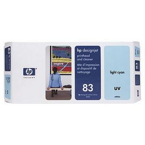 Hewlett Packard [HP] No.83 Printhead&PrintheadCleaner 13ml UV LightCyan Ref C4964A *3to5 Day Leadtime*