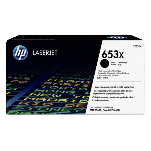 HP 653X Laser Toner Cartridge High Yield Page Life 21000pp Black Ref CF320X *3to5 Day Leadtime*