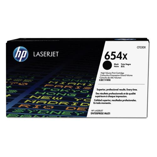 HP 654X Laser Toner Cartridge High Yield Page Life 20500pp Black Ref CF330X *3to5 Day Leadtime*