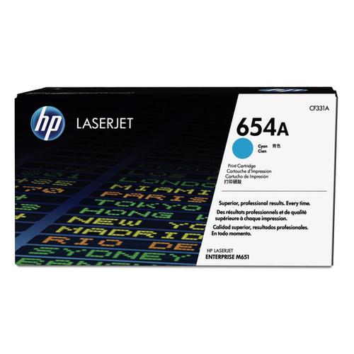 HP 654A Laser Toner Cartridge Page Life 15000pp Cyan Ref CF331A