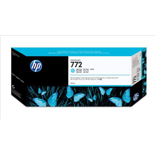 Hewlett Packard [HP] No. 772 Inkjet Cartridge HY 300ml Light Cyan Ref CN632A *3to5 Day Leadtime*