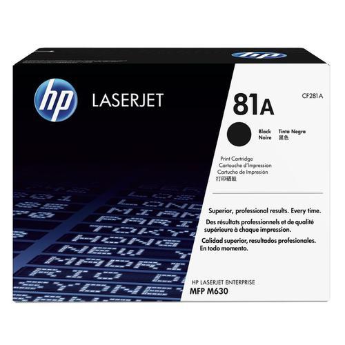 HP 81A Black LaserJet Toner Cartridge Page Life 10500pp Black Ref CF281A