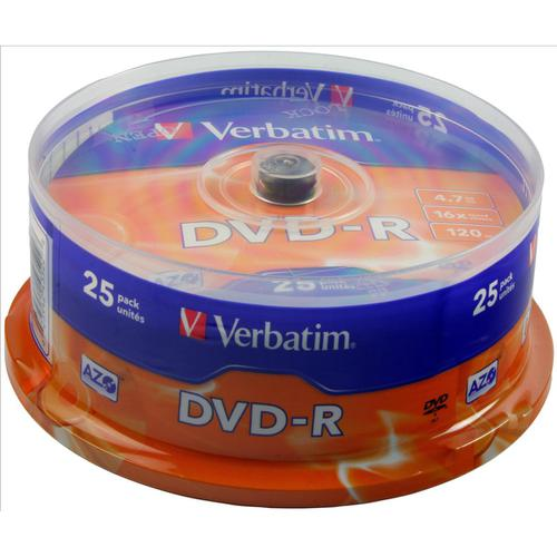 Verbatim DVD-R Spindle Ref 43522-1 [Pack 25]