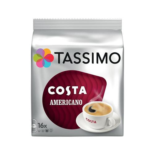 Tassimo Costa Americano Pods 16 Servings Per Pack Ref 4031506 [Pack 5 x 16]