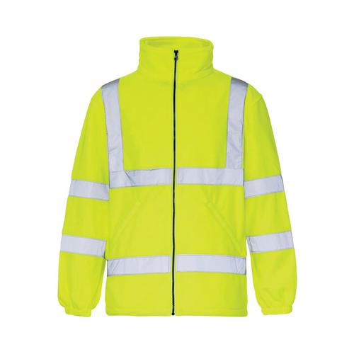 High-Vis Fleece Jacket Poly With Zip Fastening XL Yellow Ref CARFSYXL *Approx 2/3 Day Leadtime*