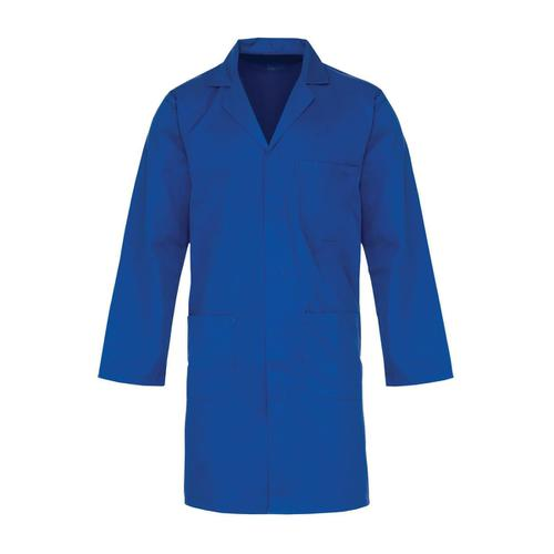 Click Lab Coat Polycotton with 3 Pockets Large Navy Ref PCWCN44 *Approx 3 Day Leadtime*