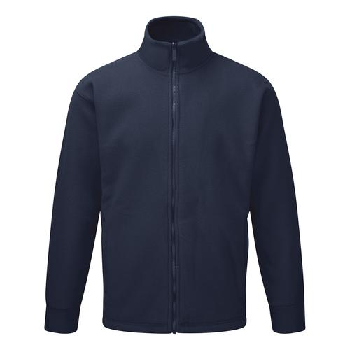 Classic Fleece Jacket Elasticated Cuffs Full Zip Front Large Navy Blue Ref FLJNL *1-3 Days Lead Time*