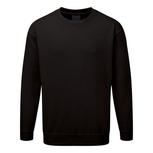 Click Workwear Sweatshirt Polycotton 300gsm Medium Black Ref CLPCSBLM *1-3 Days Lead Time*