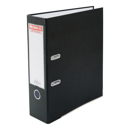 Jumbo Lever Arch File A4 Secure Locking Mechanism 85mm Capacity W93xD282xH320mm Black