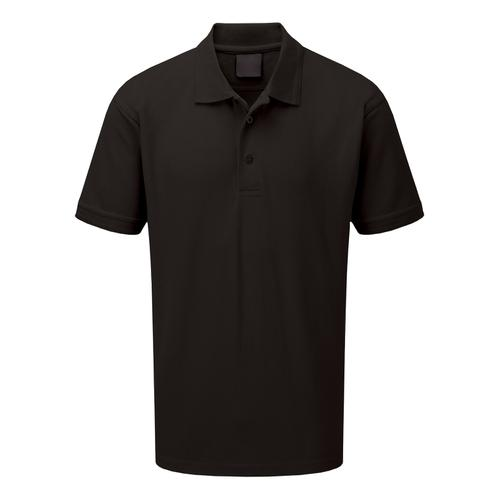 Click Workwear Polo Shirt Polycotton 200gssm Medium Black Ref CLPKSBLM *1-3 Days Lead Time*