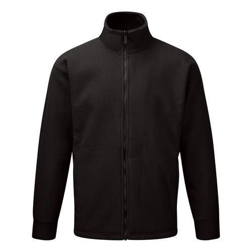 Classic Fleece Jacket Elasticated Cuffs Full Zip Front 3XL Black Ref FLJBL3XL *1-3 Days Lead Time*